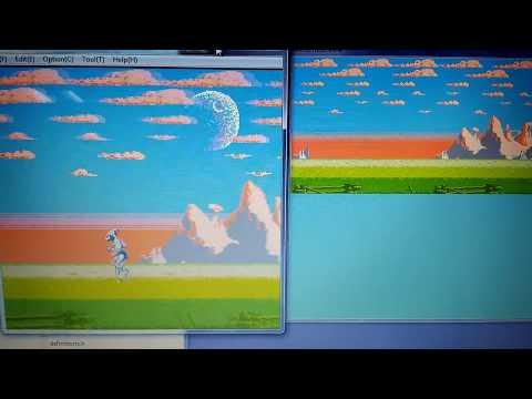 Shadow of The Beast (MMC3) [demo NES] - Scroll Test