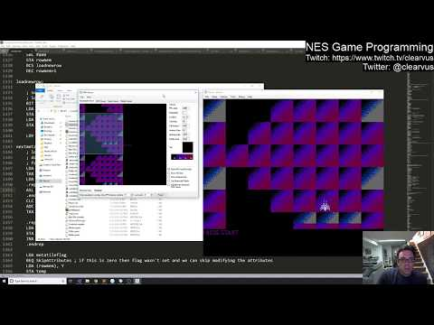 NES Programming #46 - Tile loading and attributes are done for now!