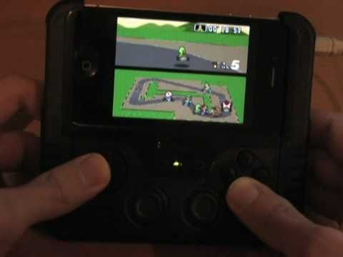 Snes9x EX for iOS preview using the iControlPad and Wiimotes