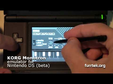 Beta Korg Monotron emulator (softsynth) for Nintendo DS