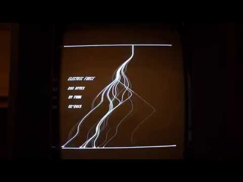 Electric Force intro for Vectrex by Frog