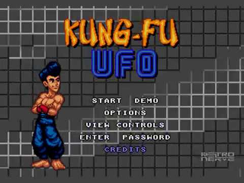 Kung-Fu UFO - SEGA Megadrive / Genesis WIP Homebrew pre alpha gameplay video