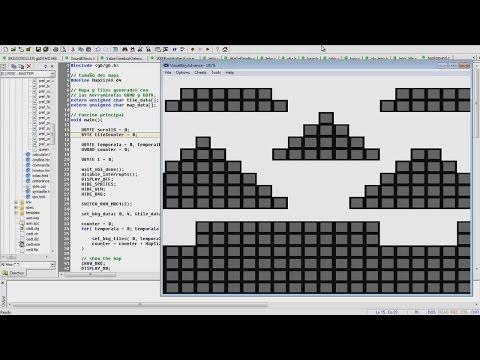 Writing a Background Scroller Program for Game Boy using C Programming Language (GBDK Dev. Kit)