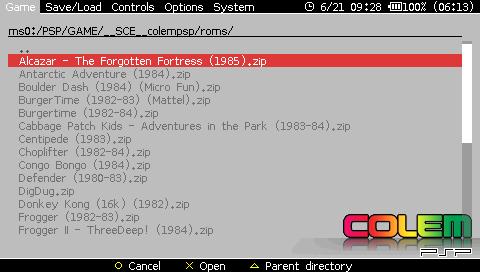 PSP - Colecovision- ColEmPSP 2 6 1 | PSX-Place