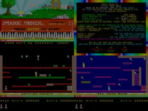 20091109 manic miner wip (dingoo game) Manic Miner v1.0 (Dingoo Game)