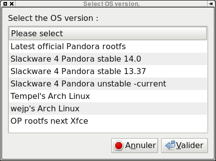 20130117 sl4p pack (slackware for pandora) v0.6.1.1 (pandora application) SL4P Pack (Slackware for Pandora) v0.8.1.1 (Pandora Application)
