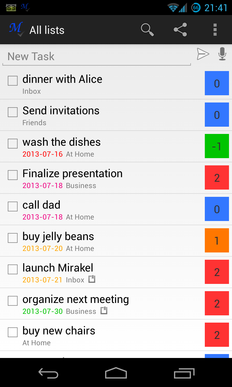 20130727 mirakel v1.0.0 (android application) Mirakel v2.6 (Android Application)