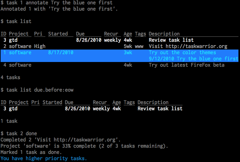20131020 taskwarrior v2.2.0.1 (pandora application port) Taskwarrior v2.3.0.2 (Pandora Application Port)