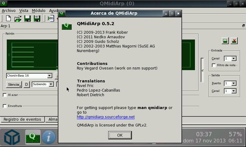 20131120 qmidiarp v0.5.2.1 (pandora application port) QMidiArp v0.6.1.1 (Pandora Application Port)