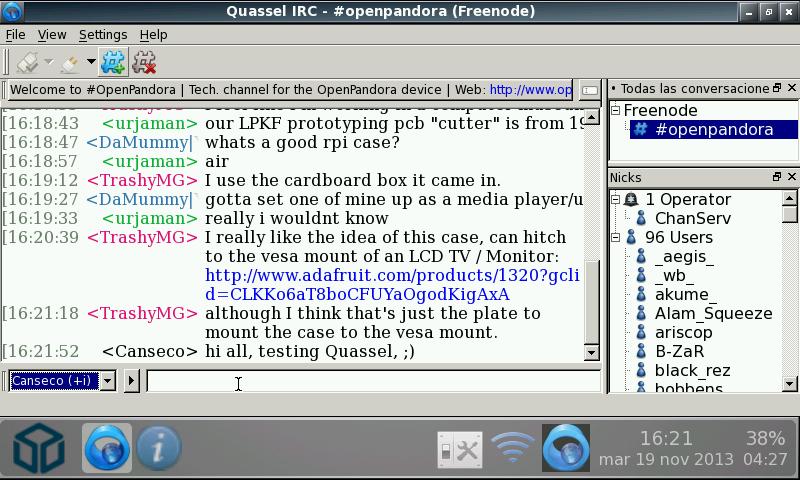 Quassel IRC v0 9 1 5 (Pandora Application Port) › Pandora