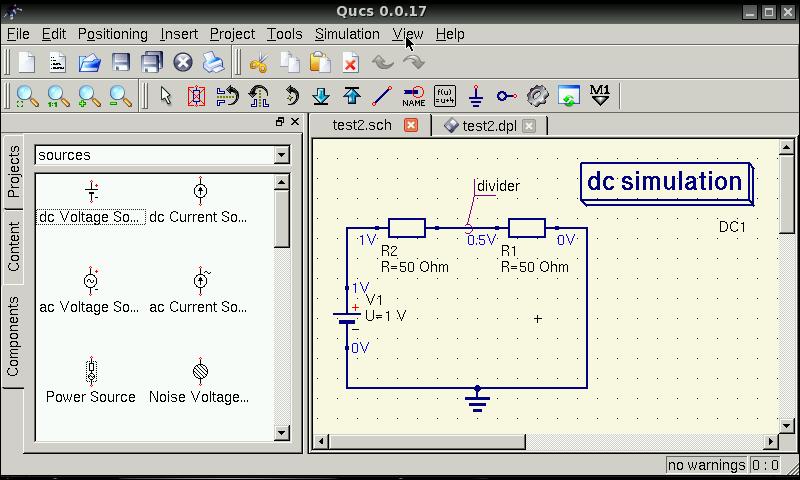 quite universal circuit simulator (qucs) v0 0 17 3 (pandora