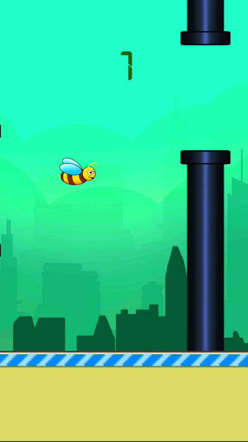 20140216 flappy bee v1.1 (android game) Flappy Bee v2.0 (Android Game)