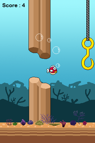 20140216 flappy fish v1.0 (android game) Flappy Fish v1.1 (Android Game)