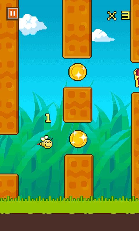 20140216 little flappy bee v1.0.0 (android game) Little Flappy Bee v1.0.0 (Android Game)
