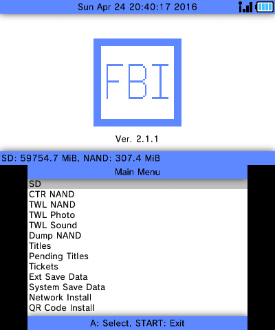 FBI v2 3 1 (3DS Application) › Nintendo 3DS › PDRoms